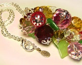 Huge Vintage Glass Berries Art Pendant Necklace - Coco Scapin Designs Chicago