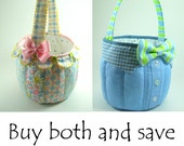 Fabric Basket Sewing Patterns ... both versions and bow tie included