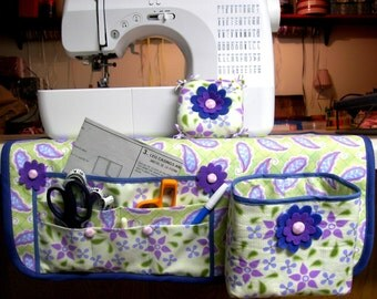 Make a Handmade Sewing Mat Organizer Thread Catcher and Pin Cushion...PDF Tutorial Ebook