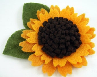 Felt Sunflower Pattern Tutorial ... No Machine Sewing Quick and Easy