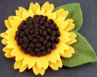 Felt Sunflower PDF Tutorial ... NEW... No Machine Sewing Quick and Easy