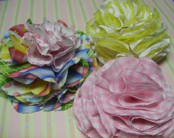 Frilly Fabric Flowers PDF Tutorial for Handmade Flowers