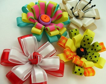 Knotted Center Ribbon Flower PDF Tutorial