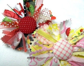 Raggy Fabric Flower Tutorial PDF ... Make Handmade Fabric Flowers ... Flower Pattern no. 6