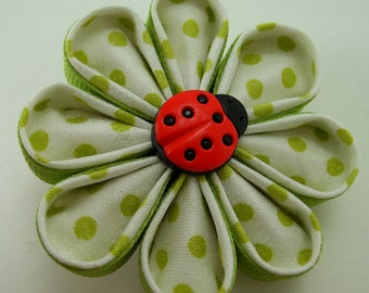 Fabric and Ribbon Kanzashi Fabric Flower Tutorial ... plus FREE bonus tutorial