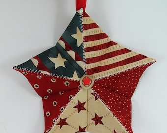 Folded Fabric Origami Star Tutorial