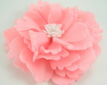 Felt Peony Flower PDF Tutorial .. no machine sewing