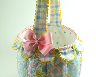 Scallop Fabric Basket PDF Sewing Pattern Tutorial