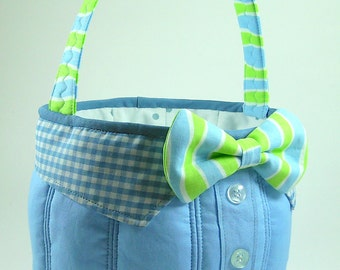 Huge Sale ... Easter Basket Sewing Pattern PDF Tutorial ... boy's bow tie included
