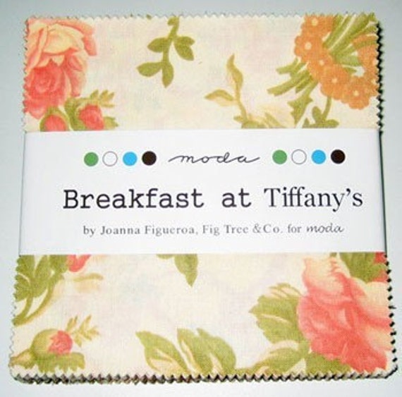 Breakfast at Tiffany's Charm Pack by Fig Tree Quilts for Moda 42 fabric squares