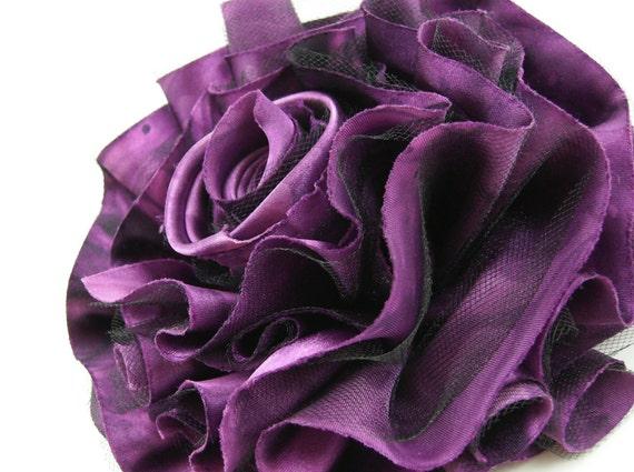 Fabric Flower PDF Pattern Tutorial ... Satin Tulle Tutu Puff