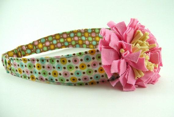 Reversible Fabric Headband Pattern ... plus FREE flower tutorial
