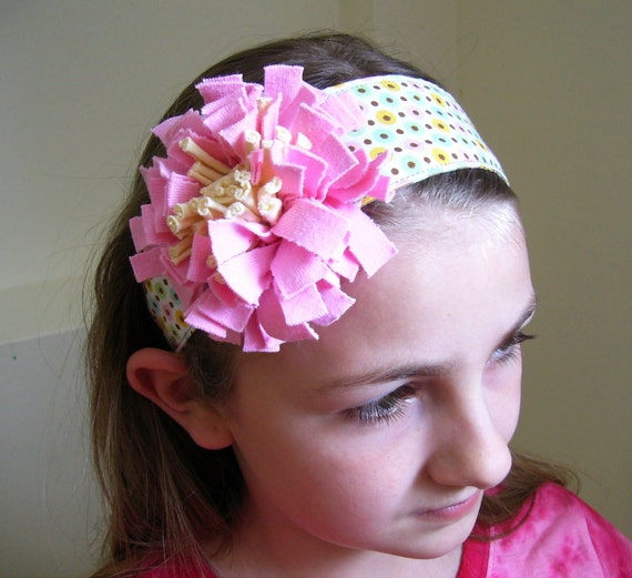 Reversible Fabric Headband Pattern ... plus FREE flower tutorial