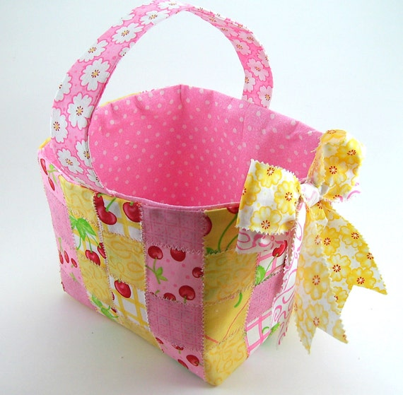 Woven Fabric Basket PDF Sewing Tutorial by SundayGirlDesigns