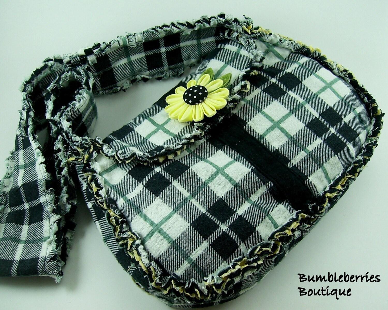 Rag Quilted Handbag Pattern : Rag Quilt Saddle Bag Sewing Pattern PDF Tutorial from SundayGirlDesigns on Etsy Studio