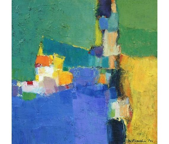 Small Box Painting 1009 - Original Oil Painting - 22.7 cm x 22.7 cm