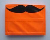 Mustache Bifold Duct Tape Wallet - Orange