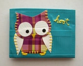 Plaid Owl Duct Tape Wallet - Teal Bifold