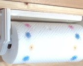Paper towel hold/ wall or under cabinet wood White