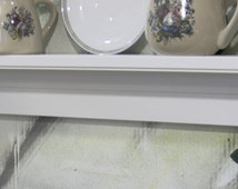 """White 24"""" wooden shelf for knik knack, plates and pictures original design USA"""