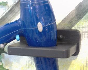 Black wood blow dryer holder