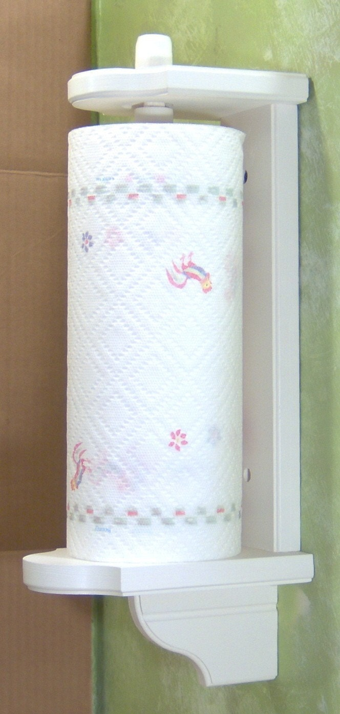 Vertical Wall Mount Paper Towel Holder white-vertical mount wood paper towel holder