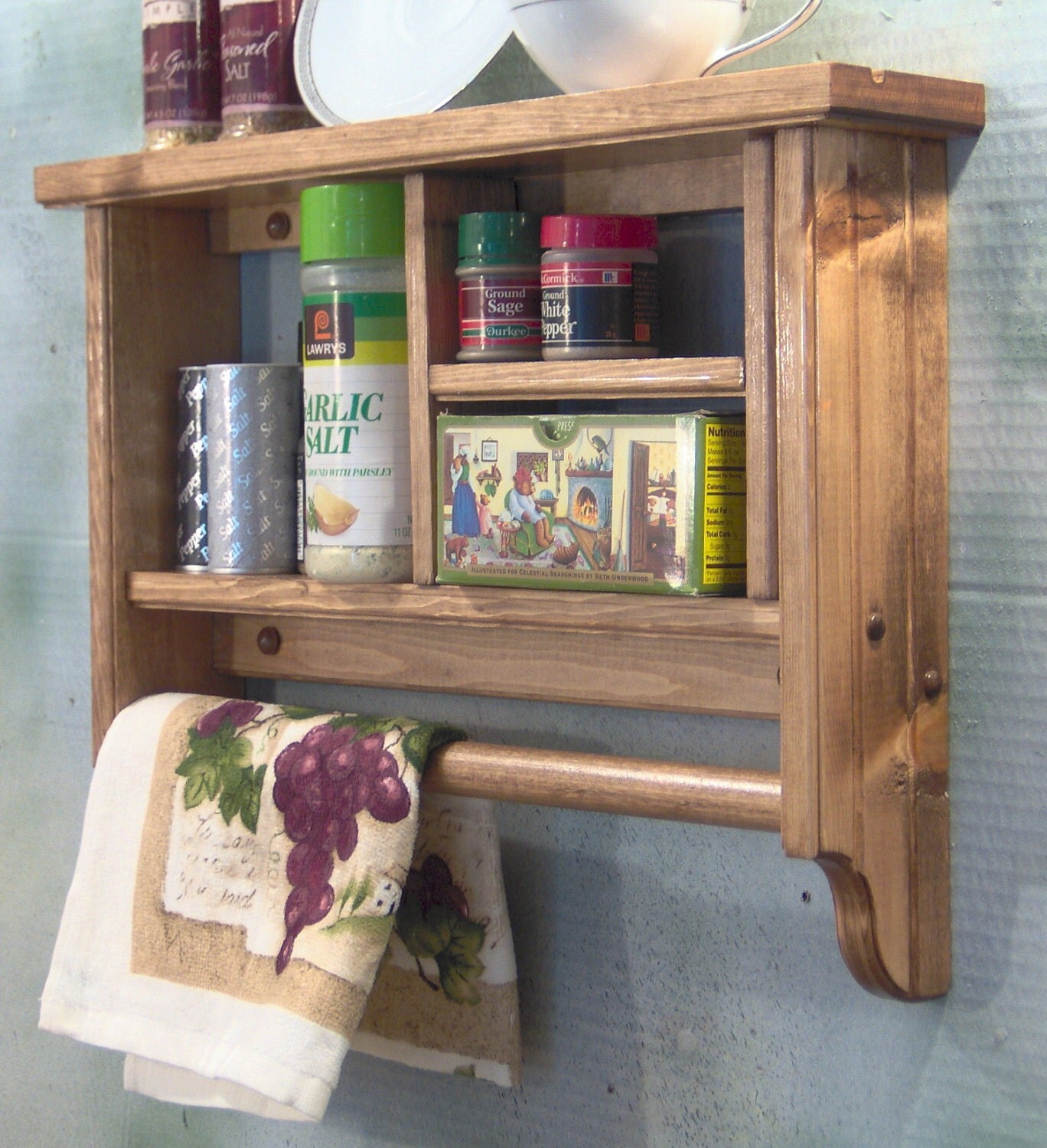 Displaying 15> Images For - Single Shelf Wooden Spice Rack...
