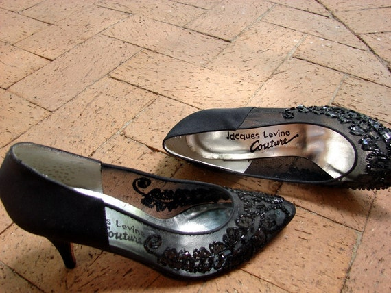 The Samantha 1980's Vintage Jacques Levine Couture Sequined Shoes