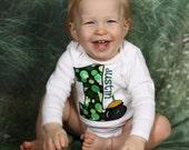 St. Patricks Day Pot of Gold Baby Birthday Shirt
