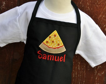 Personalized Apron for Kids / Monogrammed Apron / Pizza Apron / Personalized Kids Apron / Youth Apron / Birthday Gift / Christmas Gift