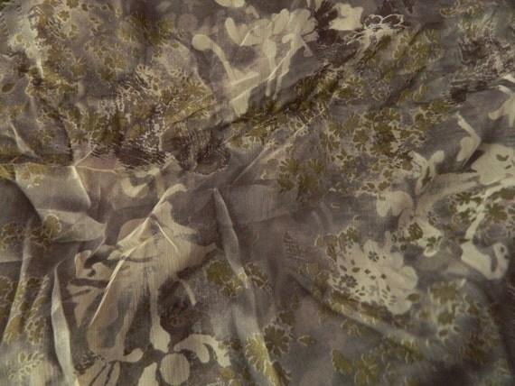 Silk Chiffon Fabric Printed Pattern - 2 Yards