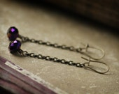 she frolicks at dusk - handmade earrings