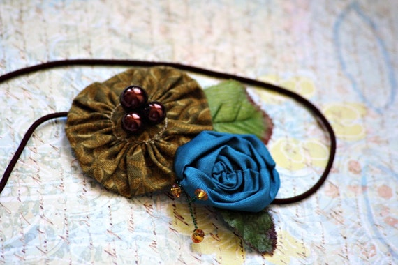hazel - a handmade textile art headband
