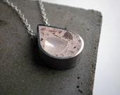 Pink Concrete Teardrop