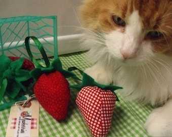 Mewberries - Strawberry catnip toy