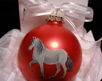 Paso Fino Horse Hand Painted Christmas Ornament - Can Be Personalized with Name