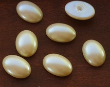 Quality Faux Pearl Oval Cabochons Costume Jewelry Repair or Creation 13x18mm Ivory - 6