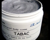 TOBACCO body creme - hand blended with cocoa butter and essential oils
