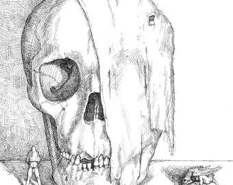 Original Book Illustration - Sound of Hungry Animals