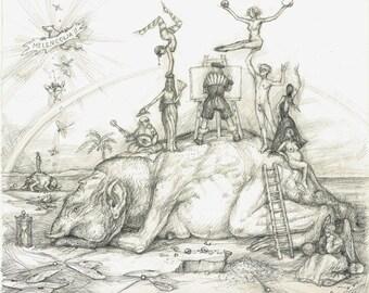 Original Drawing - Melancholia