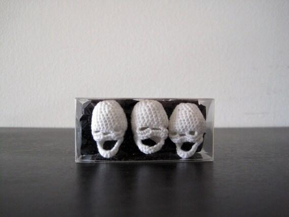 Three Crocheted Skulls - boxed set