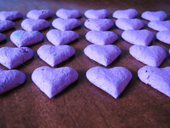 Garden Wedding Favor  Seed Bomb  Purple Heart Shape