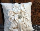 Crème Fraiche Ring Bearer Pillow