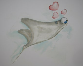 Sting Ray Valentine Card - Be My Valentine