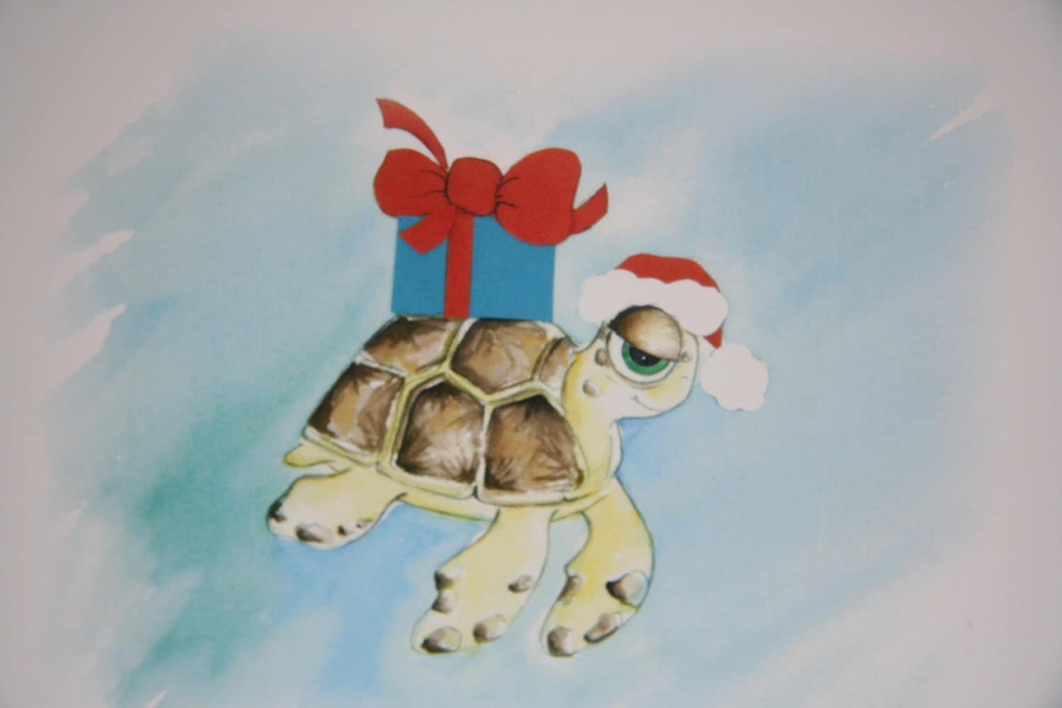 Sea Turtle Christmas Greeting Card Happy Holidays by ...