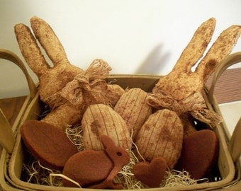 Primitive Easter Rabbit Bowl Fillers
