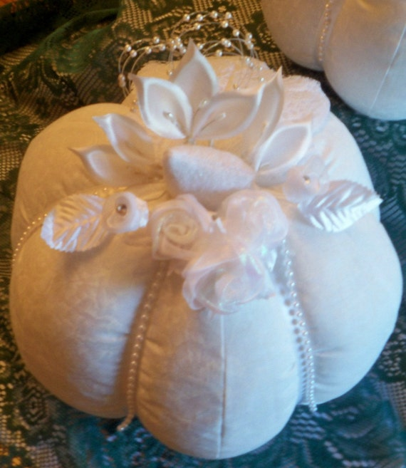 White Pumpkin Nice and Large For A Wedding Centerpiece Made To Order