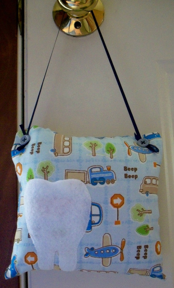 Tooth Fairy Pillow With Cars and Planes