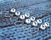 LOST numbers stitch markers