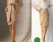 Donna Karan, Vogue Suit Pattern, Sizes14, 16, 18